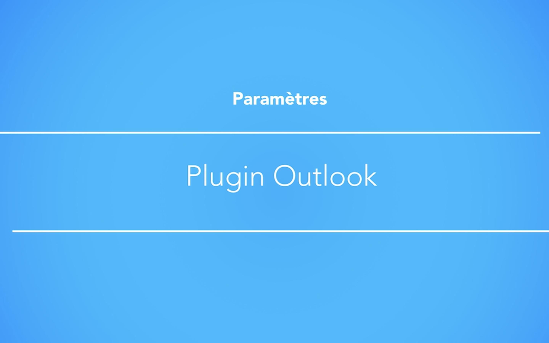 Installer le plugin Outlook