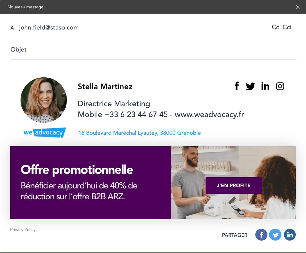 Informez vos clients