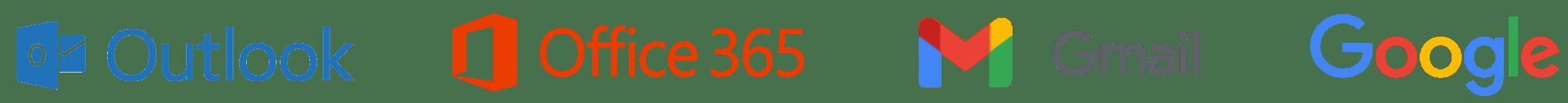 Outlook, Office 365, Gmail et Google Logo group