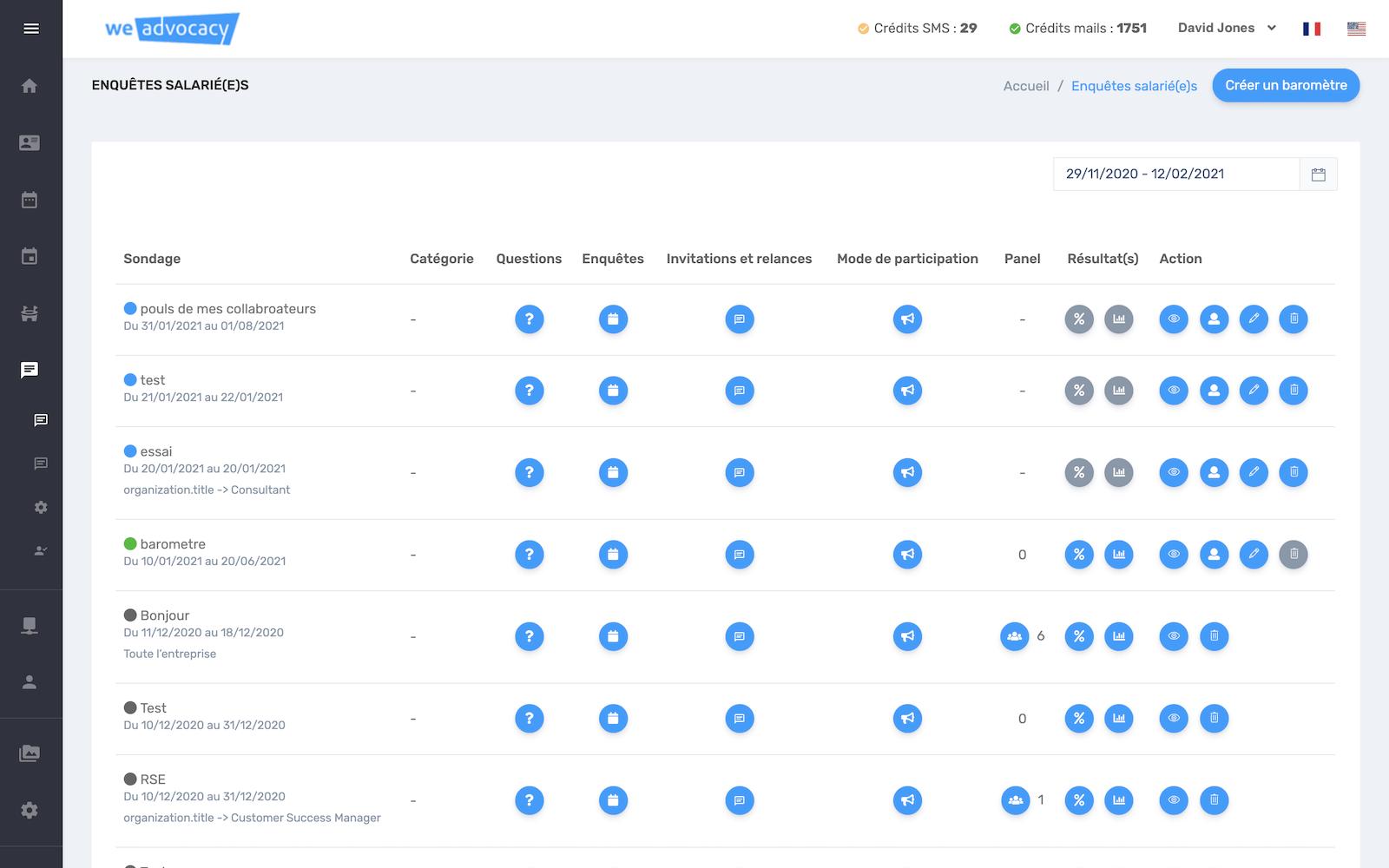 Landing page sondages salarié(e)s