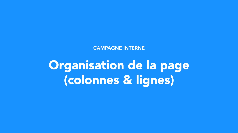 Organisation de la page (colonnes & lignes)